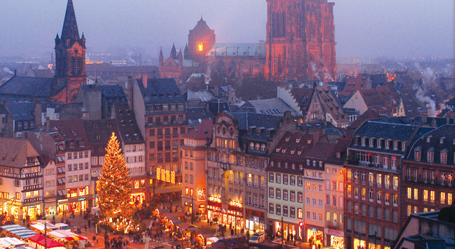 CroisiEurope's Christmas Market or New Year's cruises explore Europe's scenic waterways.