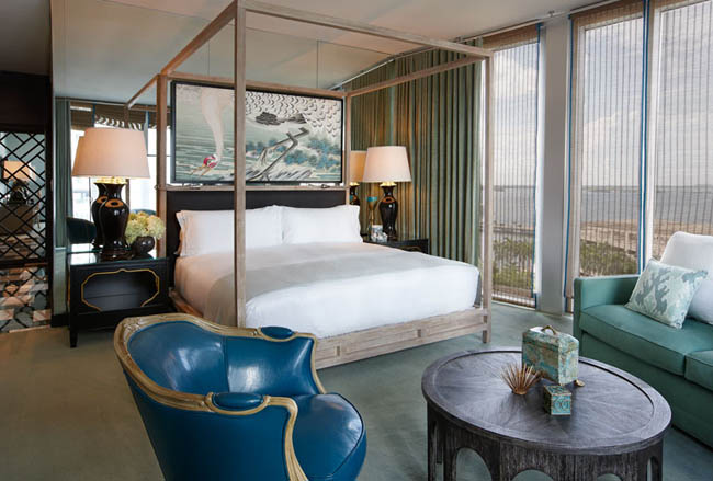 A guestroom at the new W Miami.