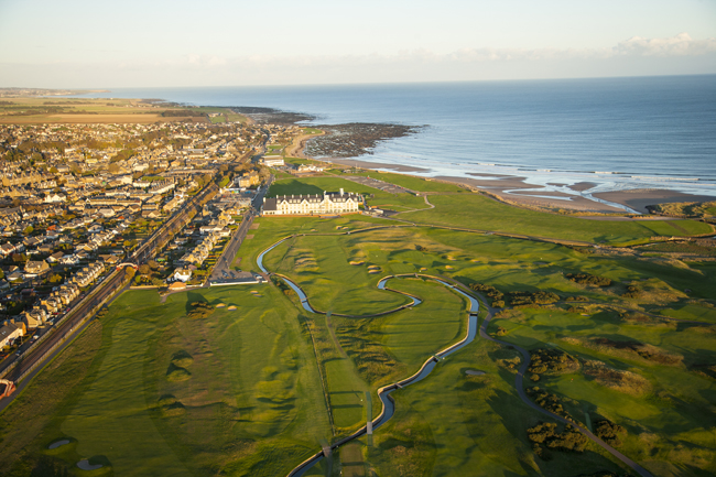 The Waldorf Astoria Golf Experiences program features access to some of the world's most decorated fairways, including the Carnoustie golf course at the Waldorf Astoria Edinburgh in Scotland (pictured). (Photo credit: Stephen Szurlej)
