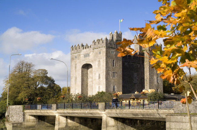 Bunratty Castle in County Clare, Ireland. (Photo credit: Tourism Ireland)