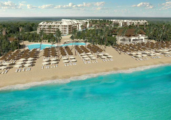 The all-inclusive all-suite Ocean Riviera Paradise is set to begin open Dec. 15 in Playa del Carmen, Mexico. (Photo credit: Ocean Riviera Maya)