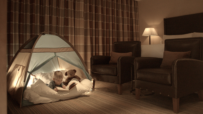 The Ritz-Carlton, Lake Tahoe'sIndoor Campout Program that lets kids bring a camping experience into their own room.