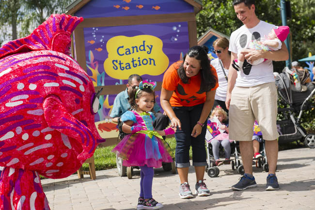 SeaWorld's Halloween Spooktacular in Orlando is held every weekend in October.