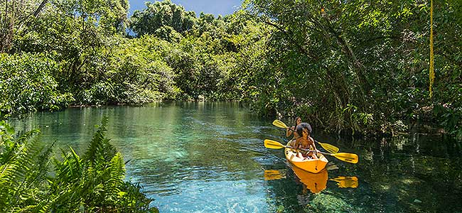 Kayaking in the Dominican Republic.