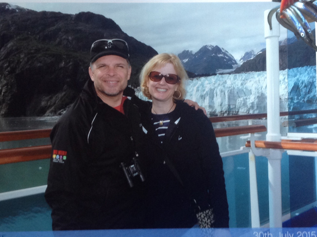 John with his wife in Alaska.
