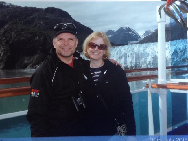 John with his wife in Alaska.