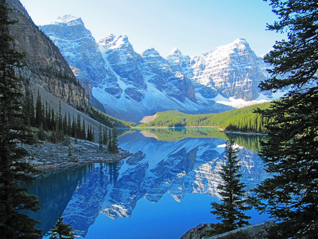 Collette's Canadian Rockies itinerary takes guests from Vancouver to Alberta to see the picturesque Moraine Lake.