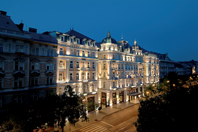 The five-star Corinthia Hotel Budapest.