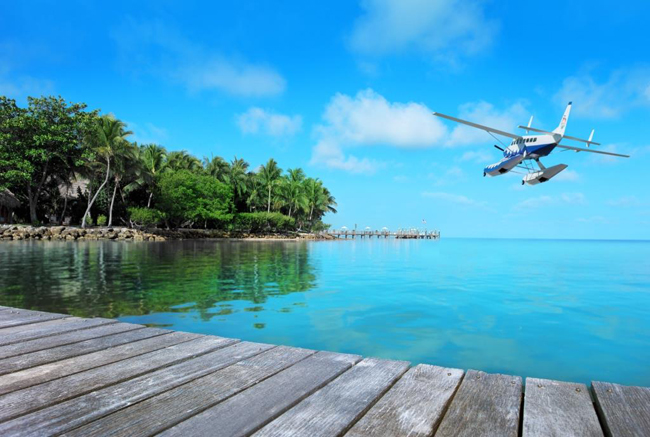 Guests can now charter a private seaplane to Little Palm Island Resort & Spa in Little Torch Key, Florida.
