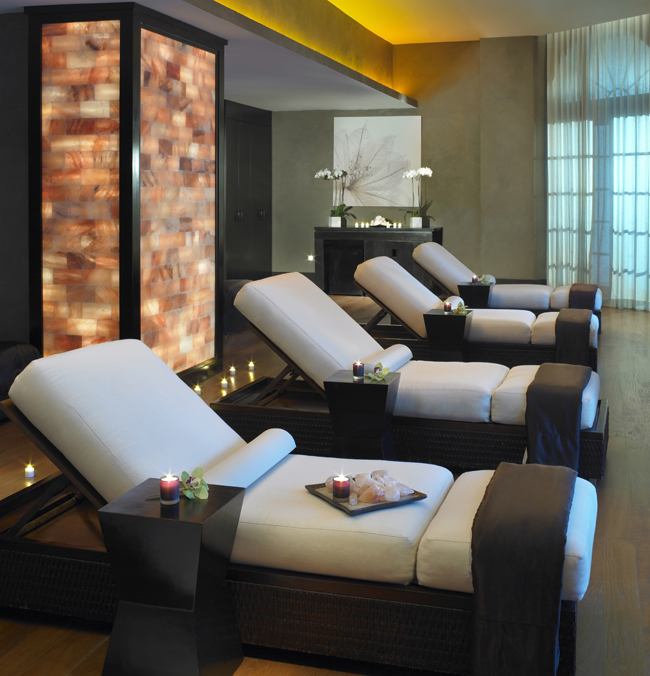 A Himalayan salt wall Acqualina Resort & Spa's Acqualina Spa by ESPA in Sunny Isles Beach, Florida.