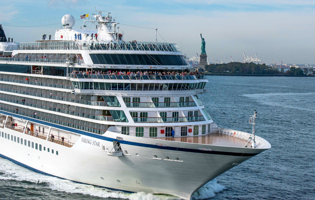 Viking Star heads to San Juan from New York. (Photo courtesy of Viking Cruises)