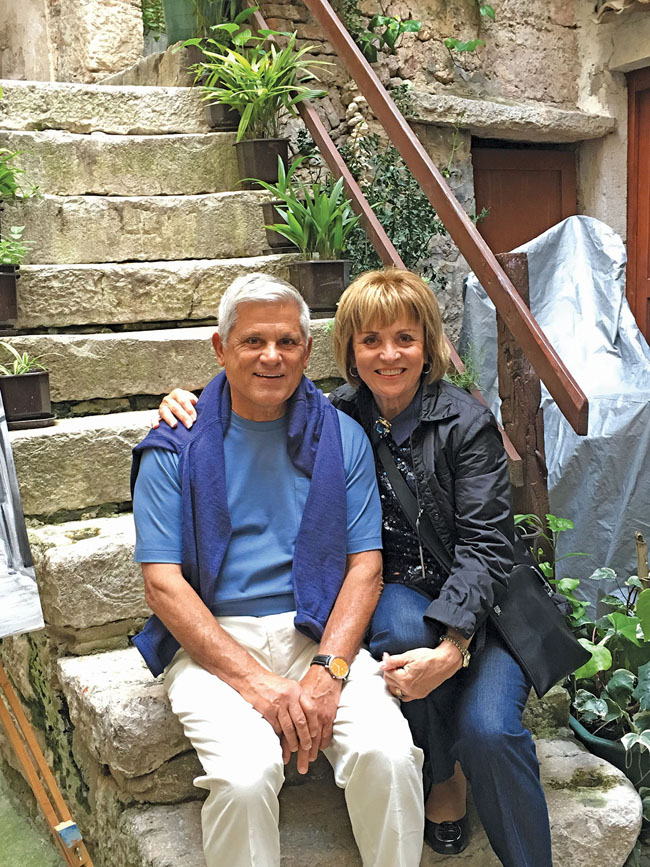 Traveling through Croatia with his wife, Mary. (Photo courtesy of Mayflower Tours.)