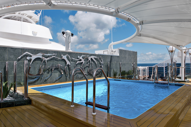 MSC Cruises is offering a 2 for 1 Cruise Deal to Grand Turk Island. The MSC Yacht Club on board the MSC Divina.