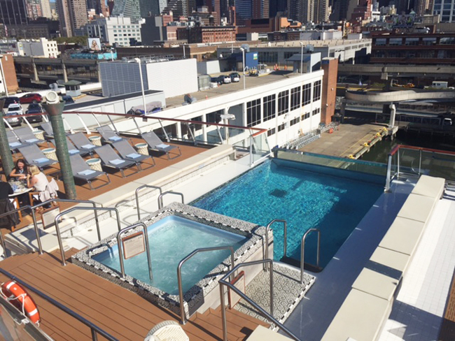 The infinity pool aboard the Viking Star. (Photo Credit: Michelle Arean)