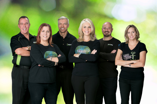 Cruise Planners Co-Owners and Executives (left to right): Dan Hicks; Vicky Garcia; Tom Kruszewski; Michelle Fee; Brian Shultz; and Theresa Scalzitti.