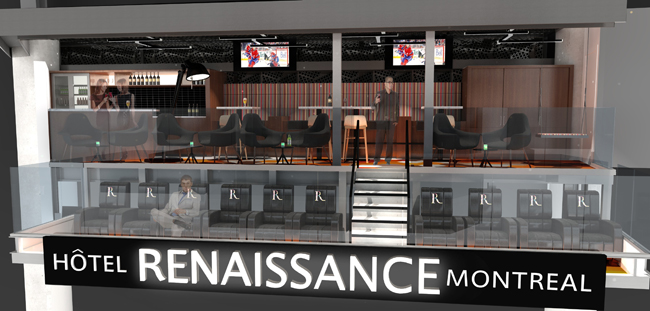A rendering of the Renaissance Montreal LOFT at the Renaissance Montreal Downtown Hotel.