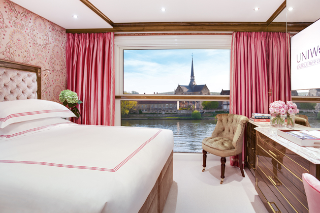 A stateroom on the upcoming S.S. Joie de Vivre.