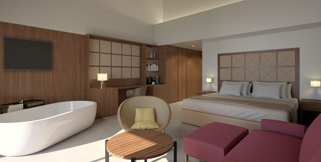 The renovated suites at Excellence Punta Cana will feature a more modern, sleek design.
