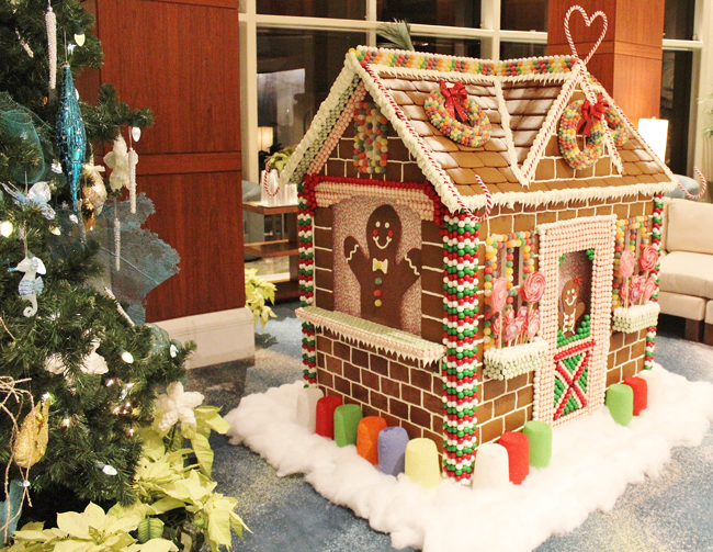 Last year,Brittani Szczecina,executive pastry chef at thePalm Beach Marriott Singer Island Beach Resort & Spa, created a5-ft.-tallgingerbread house for the hotel.