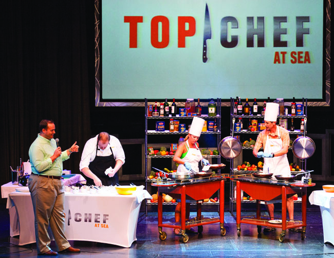 Celebrity Cruises has brought back its popularTop Chef at Sea program for a special New Year's Eve sailing.