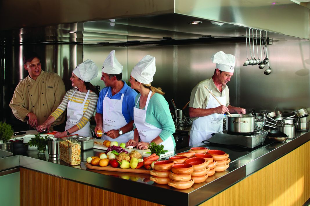 Opposite page: Cooking class aboard AmaWaterways.