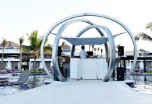 CHIC Punta Cana poolside DJ booth.