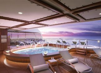 Rendering of the Seabourn Encore.
