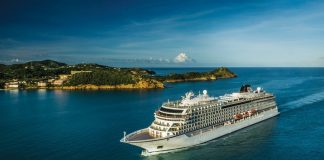 Viking Star arrives in Antigua.