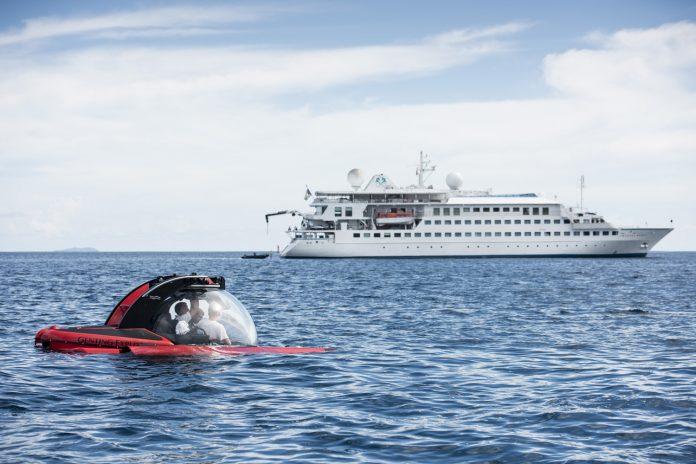 Crystal Esprit with submarine.