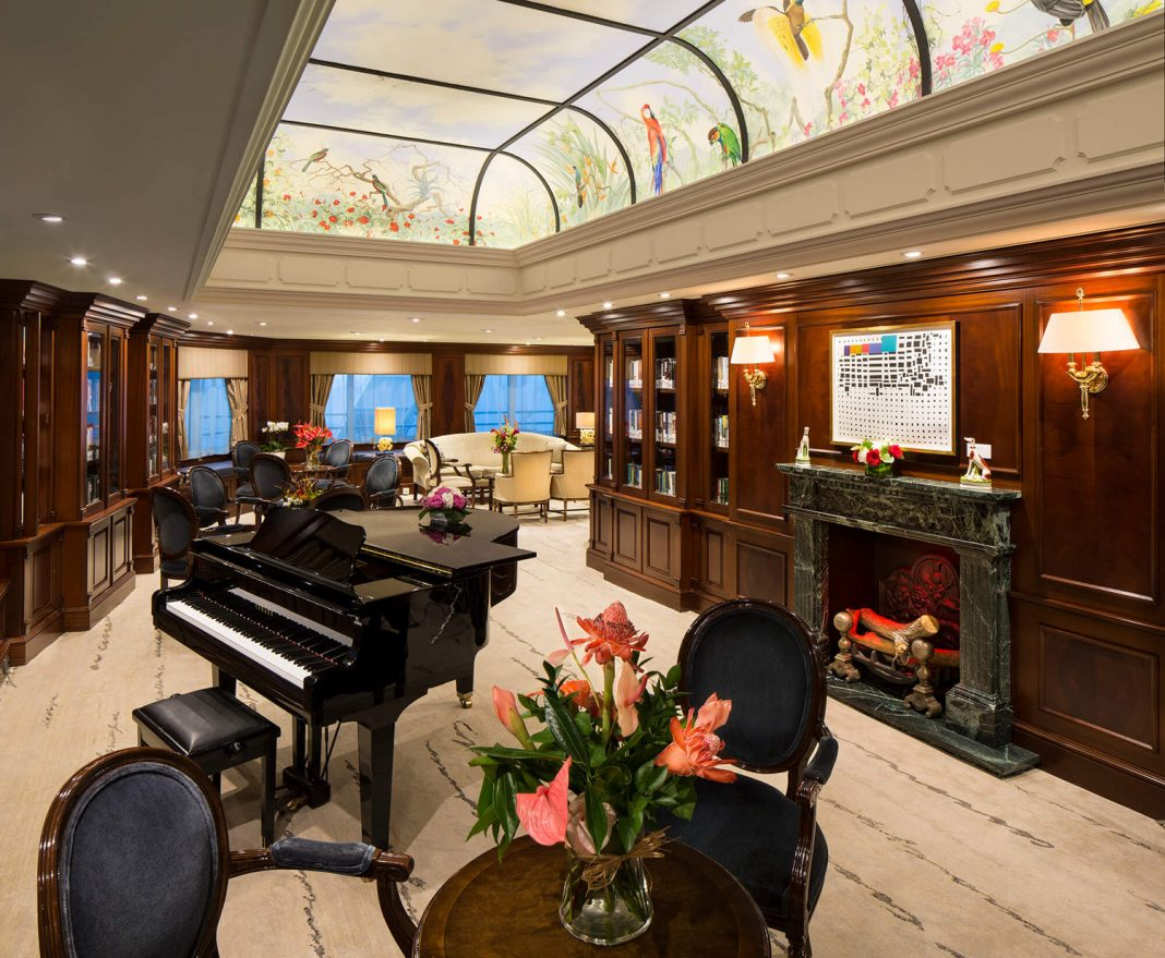 The drawing room on the Azamara Quest.