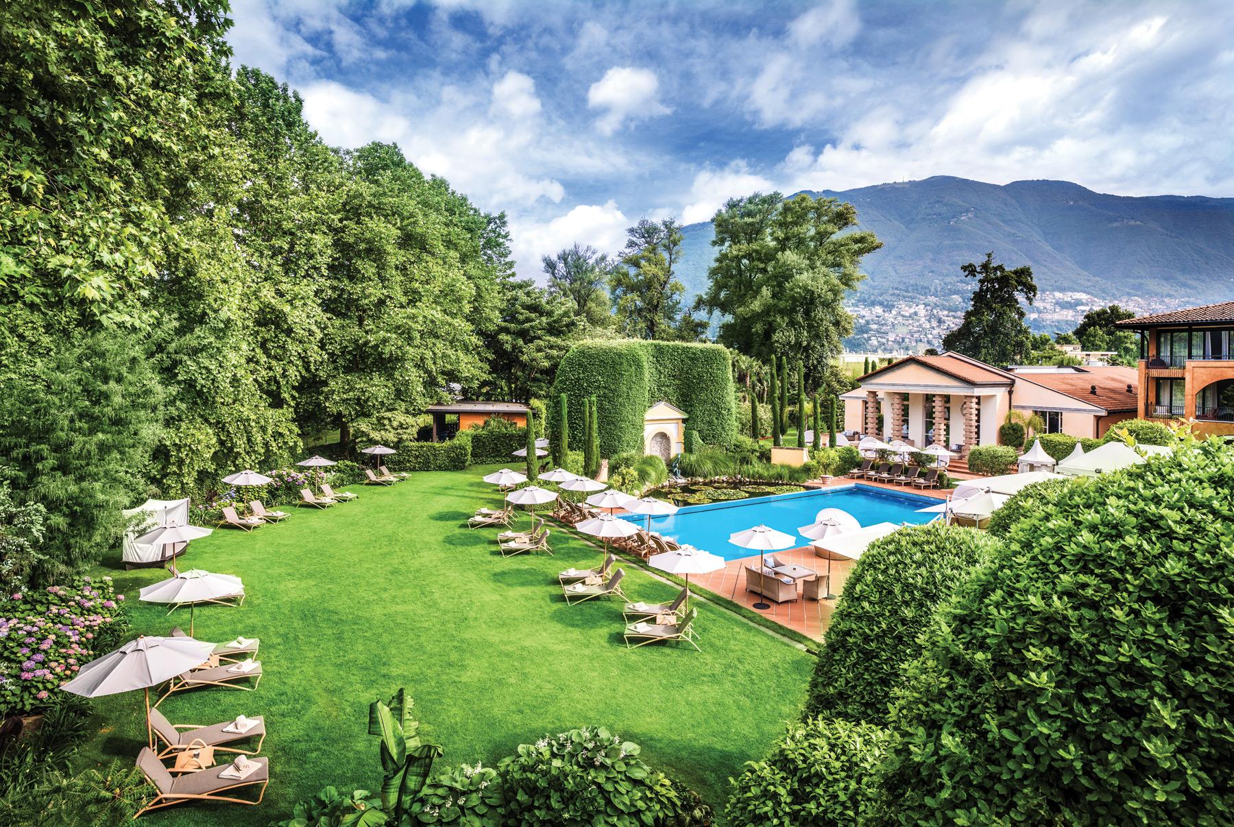 Giardino Ascona, located along Lake Maggiore in Switzerland.