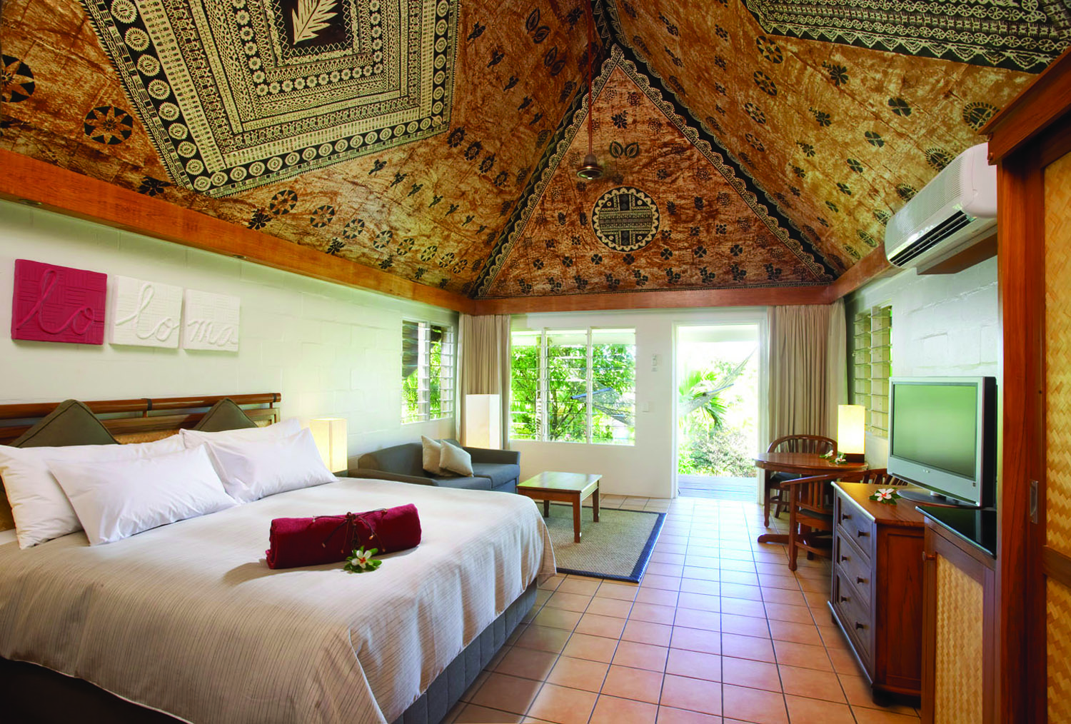 Accommodations at Outrigger Fiji Beach Resort.