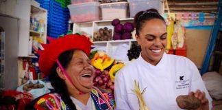 JW Marriott El Convento Cusco's chef Thais Rodrigueztakes guests on a tour through the local San Pedro Market.