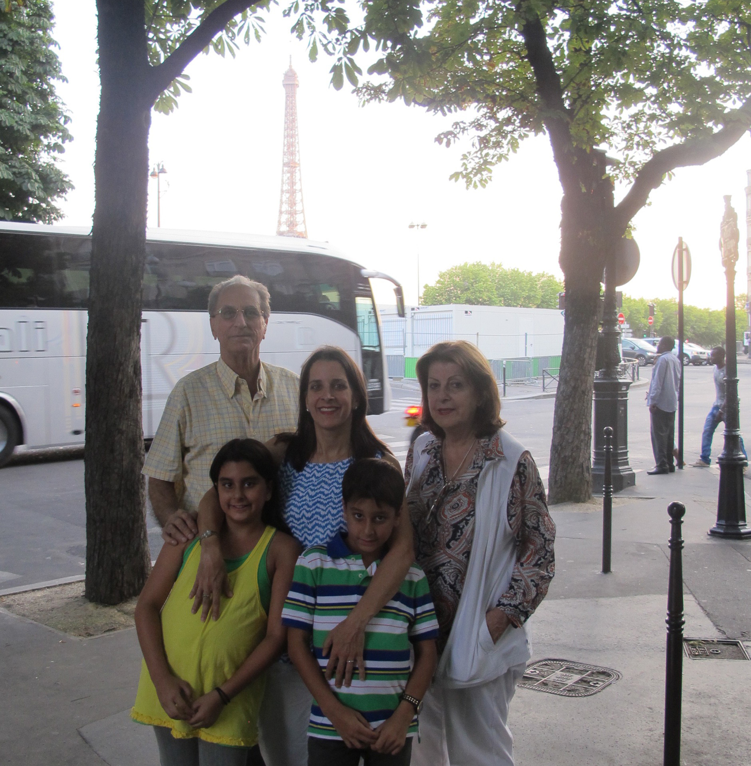 John in Paris with his family.