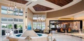 The chic lobby at Playa Largo Resort & Spa.