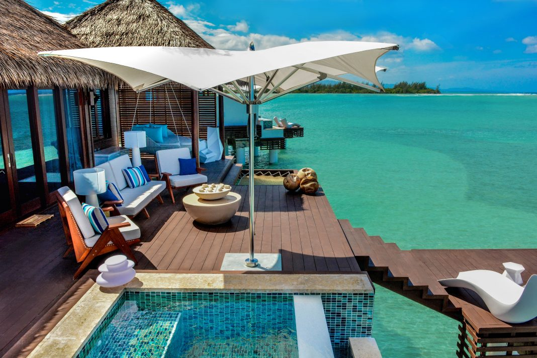 Sandals' Over-the-Water Suites at Sandals Royal Caribbean in Montego Bay. (Photo courtesy of Sandals Resorts.)