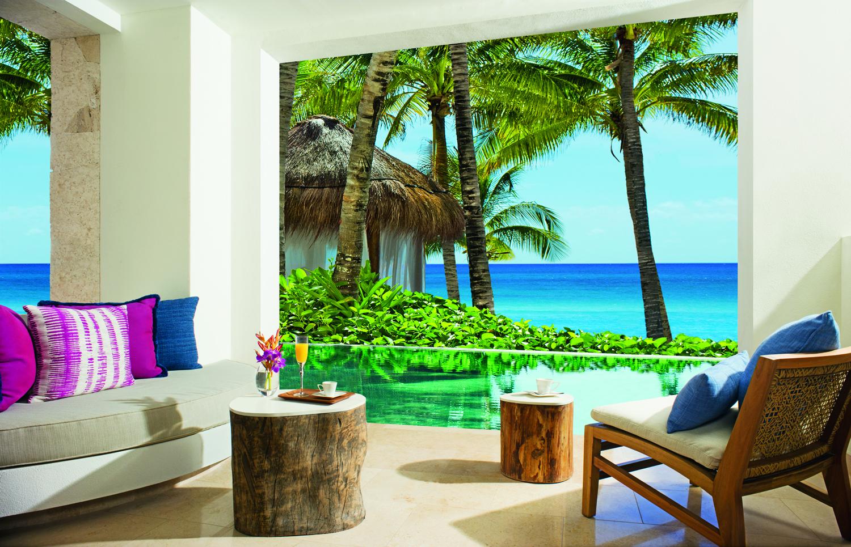 Preferred Club Bungalow Suite Swim Out Suite at Secrets Cap Cana Resort Spa in Punta Cana, Dominican Republic.