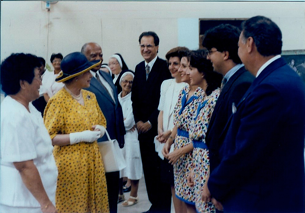 John meeting HRH The Queen, Elizabeth II.