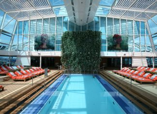 The Solarium onboard Celebrity Silhouette.