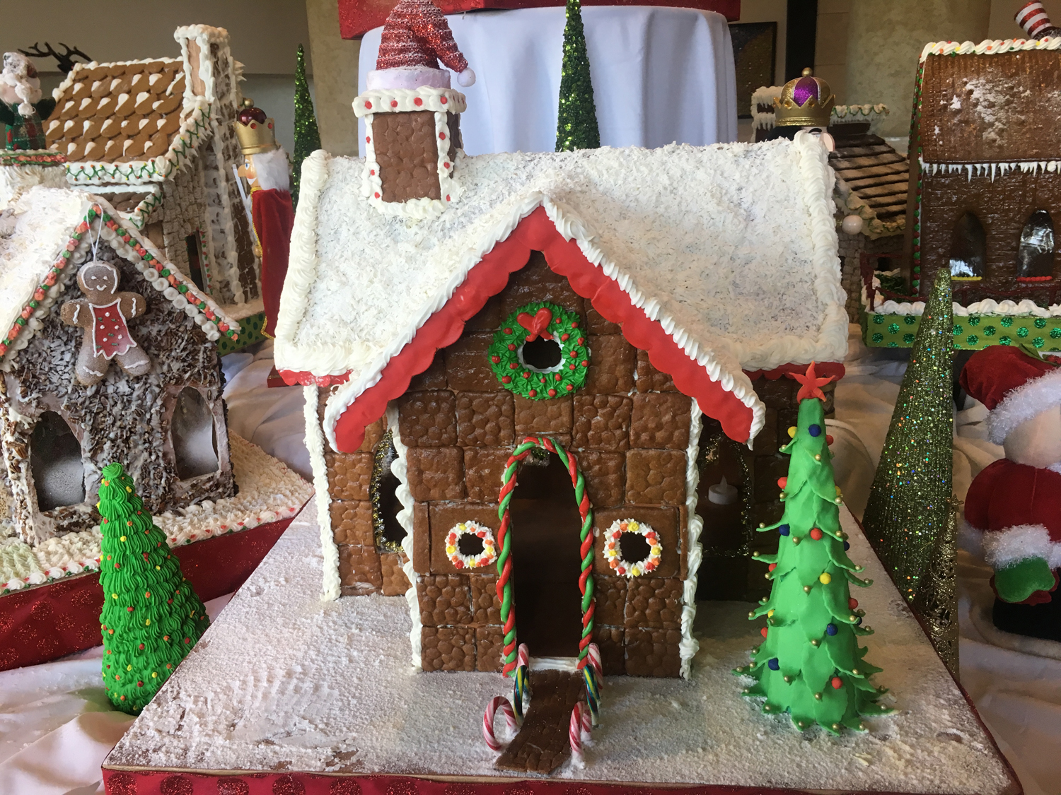 Gingerbread house display at The Wyndham Grand Rio Mar Beach Resort & Spa, in Rio Grande, Puerto Rico. (Photo credit: The Wyndham Grand Rio Mar Beach Resort & Spa)