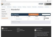 A screenshot of Classic Vacations' new website.