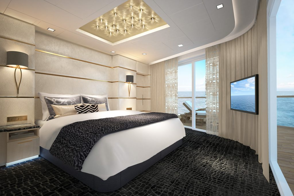 The Haven Deluxe Owner Suite aboard the Norwegian Bliss. (Photo courtesy of Norwegian Cruise Line.)