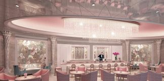 A rendering of the Camellia's Ladies Bar at the Hotel Bennett in Charleston, South Carolina.
