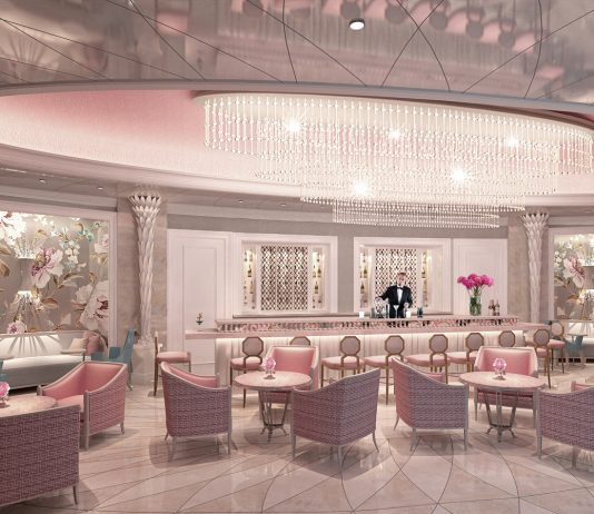 A rendering of theCamellia'sLadies Bar at theHotel Bennett inCharleston, South Carolina.