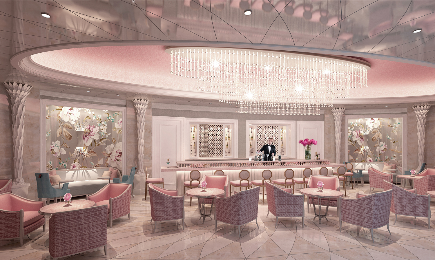 A Rendering Of The Camellia S Las Bar At Hotel Bennett In Charleston South Carolina
