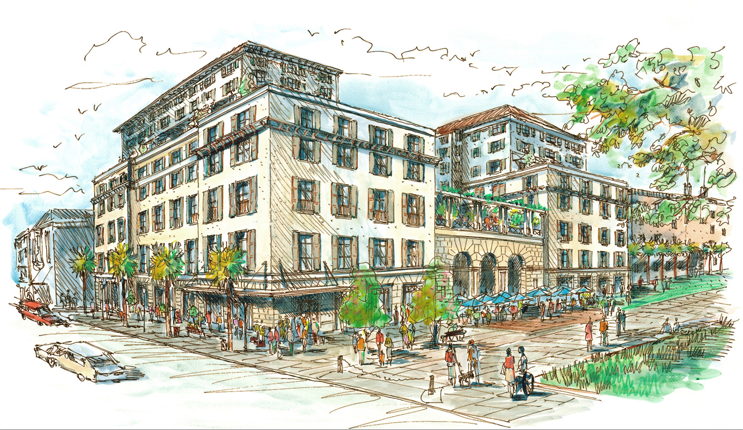 A rendering of the new Hotel Bennett in Charleston, South Carolina.