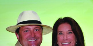 Kevin Froemming, executive v.p. and CMO of Playa Hotels & Resorts with Kim Manna, CEO of Panama Jack.