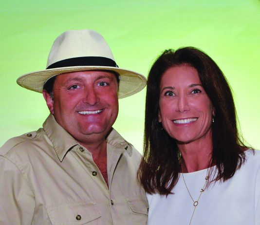 Kevin Froemming, executive v.p. and CMO of Playa Hotels & Resorts with Kim Manna, CEO of Panama Jack.