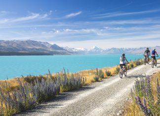 Lake Pukaki in Tekapo, New Zealand.