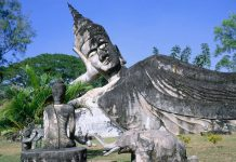 FT-Tours new Laos FAM visits the country's top sites. Buddha Park (pictured)
